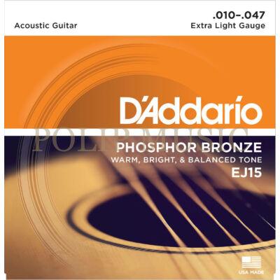 D'Addario EJ15 010-047 akusztikus gitárhúr