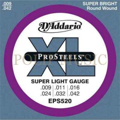D'Addario EPS520 Super Light 009-042 elektromos gitárhúr