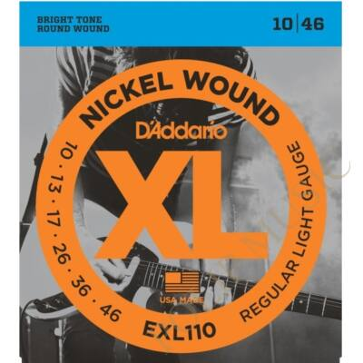 D'Addario EXL110 Regular Light 010-046 elektromos gitárhúr