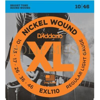 D'Addario EXL110 Regular Light 010-046 elektromos gitárhúr