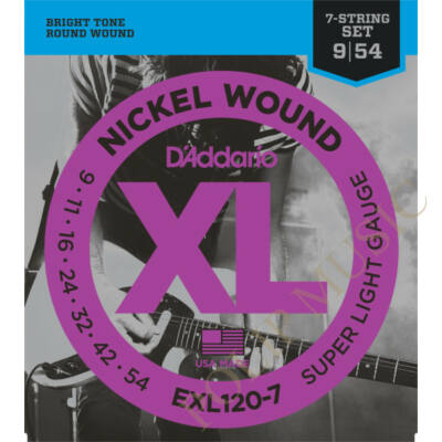 D'Addario EXL120-7 Super Light 009-054 elektromos gitárhúr