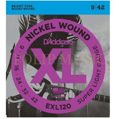 D'Addario EXL120 Super Light 009-042 elektromos gitárhúr