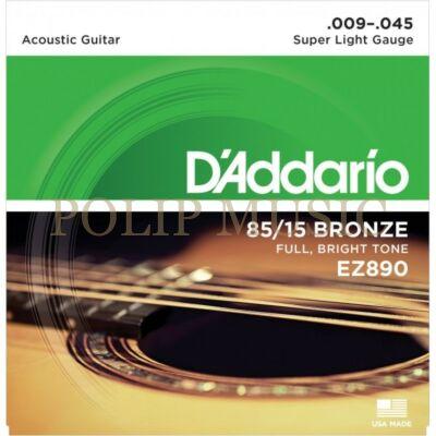 D'Addario EZ 890 Super Light 009-045 akusztikus húr