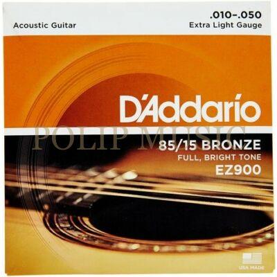 D'Addario EZ900 Extra Light 010-050 akusztikus húr