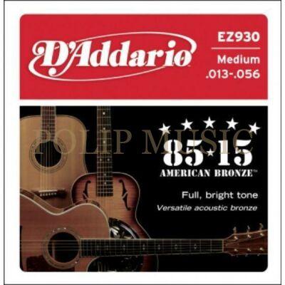 D'Addario EZ930 Medium 013-056 akusztikus húr