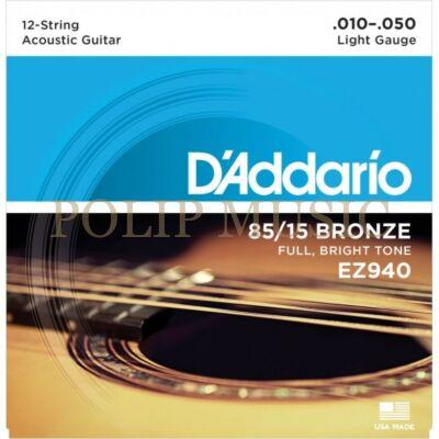 D'Addario EZ940 Light 010-050 akusztikus húr
