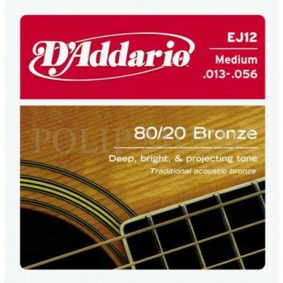 D'Addario EJ12 Medium 013-056 akusztikus húr