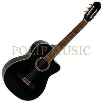 Dimavery  CN-600E BK elektro-klasszikus gitár