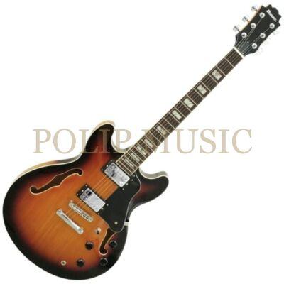 Dimavery  SA-610 sunburst Jazz elektromos gitár