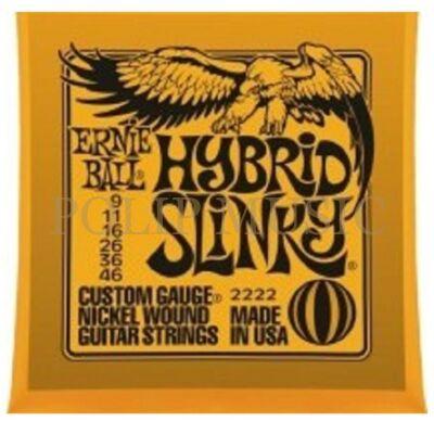 Ernie Ball 2222 Hybrid Slinky Custom Light 009-046 elektromos gitárhúr