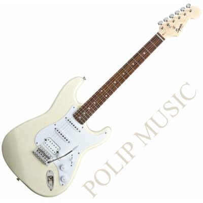 Fender Squier Bullet Stratocaster Tremolo HSS IL Arctic White Elektromos gitár