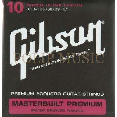 Gibson SAG BRS10 Super Ultra Light 010-047 akusztikus gitárhúr