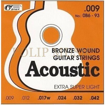 Gorstrings 0B693 Extra super light 009-042 akusztikus gitárhúr