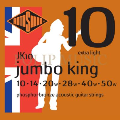Rotosound JK10 akusztikus Extra Light 010-050 akusztikus gitárhúr