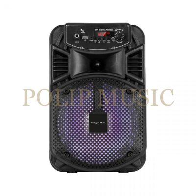 Krüger & Matz KM0555 hordozható aktív hangrendszer 8coll karaoke funkcióval