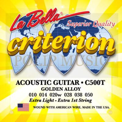 LaBella C500T Extra Light 010-050 akusztikus húr