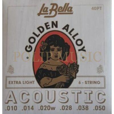 LaBella 40PT Extra Light 010-050 akusztikus húr