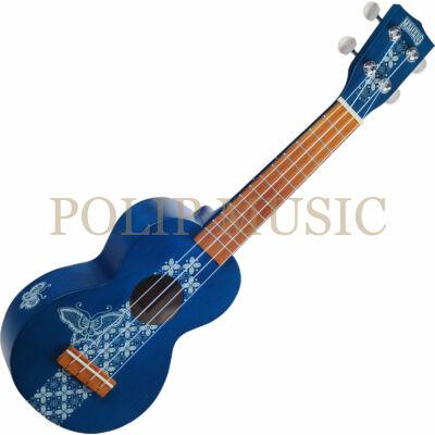 Mahalo MK1BA Transparent Blue puhatokkal szoprán ukulele