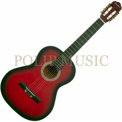 Pasadena SC041 4/4 Red Burst klasszikus gitár