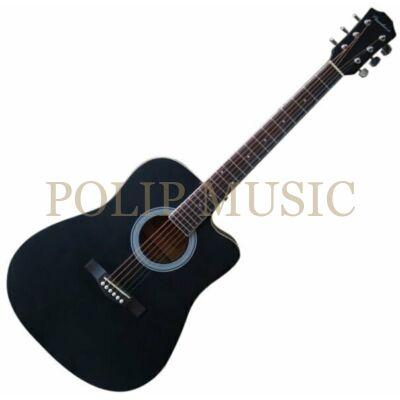 Pasadena SG028C Black akusztikus gitár