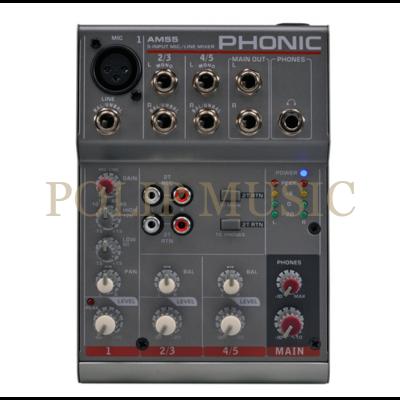 Phonic AM55  1 Monó/2 Sztereó csatorna Keverőpult