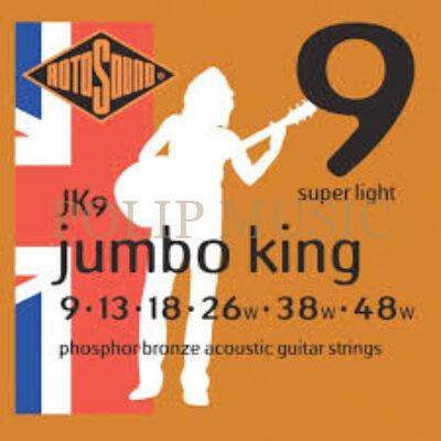 Rotosound JK9 Super Light 009-048w akusztikus húr