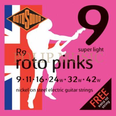Rotosound R9 Super Light 009-042w elektromos gitárhúr