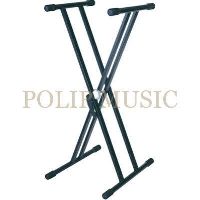 Soundking DF032-6 Fekete Szabványos X alakú acél billentyűzet állvány