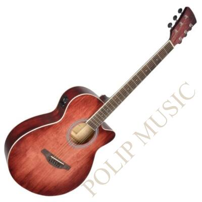 Soundsation Saguaro HW-CE GR - Kézzel festett elektroakutikus gitár