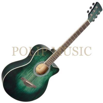 Soundsation Saguaro-HW-CE GR Kézzel festett elktroakusztikus gitár