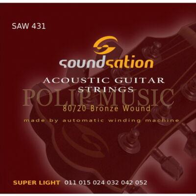 Soundsation SAW 431 Super Light 011-052 akusztikus húr