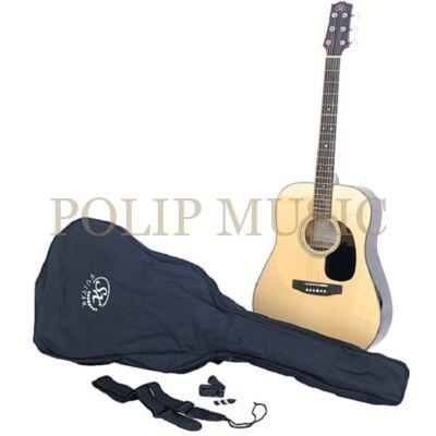 SX SA-1 NA akusztikus gitár szett