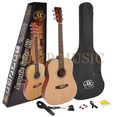 SX SD204K akusztikus gitár szett