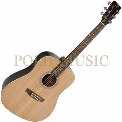SX SD204 Transparent Black Dreadnought akusztikus gitár