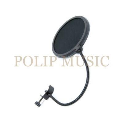 Thunder Audio POP-10 Popfilter mikrofonhoz, Stúdió, Podcast, Youtuber, Gamer, TikTok felhasználásra