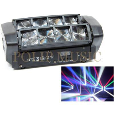 Thunder ZZD-08, 8x3W LED Spider fényeffekt, robotlámpa, DMX és hangvezérlés