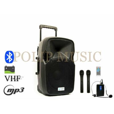 Thunder Audio ACCU-12 PLUS (30cm) 600W akkumulátoros hordozható hangfal (3xMik + MP3 + Bluetooth + FM)