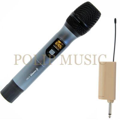 Thunder Audio U-801 UHF vezeték nélküli, akkumulátoros mikrofon szett (1 db KÉZI mikrofon)