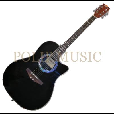 Uniwell LO200 BK elektroakusztikus gitár