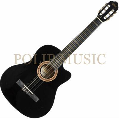 Valencia VC104C Black 4/4 méretű klasszikus gitár