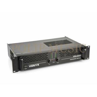 Vonyx VXA-1200 2x600w Bridge: 1x1200w végerősítő